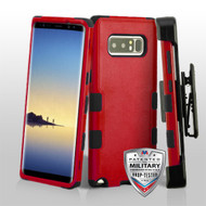 Military Grade Certified TUFF Hybrid Armor Case with Holster for Samsung Galaxy Note 8 - Red