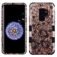 Military Grade Certified TUFF Image Hybrid Armor Case for Samsung Galaxy S9 Plus - Four Leaves Clover Rose Gold