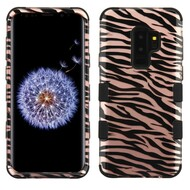 Military Grade Certified TUFF Image Hybrid Armor Case for Samsung Galaxy S9 Plus - Zebra Rose Gold