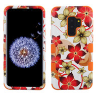 Military Grade Certified TUFF Image Hybrid Armor Case for Samsung Galaxy S9 Plus - Hibiscus Flowers Romance