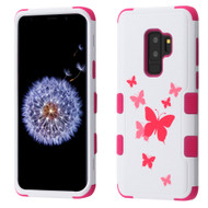 Military Grade Certified TUFF Image Hybrid Armor Case for Samsung Galaxy S9 Plus - Butterfly Dancing