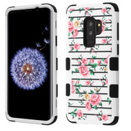 Military Grade Certified TUFF Image Hybrid Armor Case for Samsung Galaxy S9 Plus - Pink Fresh Roses 229