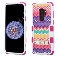 Military Grade Certified TUFF Image Hybrid Armor Case with Stand for Samsung Galaxy S9 Plus - Camo Wave