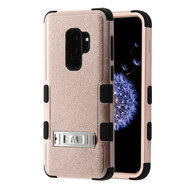Military Grade Certified TUFF Hybrid Armor Case with Stand for Samsung Galaxy S9 Plus - Rose Gold