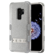 Military Grade Certified TUFF Hybrid Armor Case with Stand for Samsung Galaxy S9 Plus - Grey 407