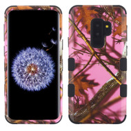 Military Grade Certified TUFF Image Hybrid Armor Case for Samsung Galaxy S9 Plus - Pink Oak Hunting Camouflage