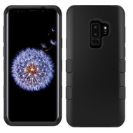 Military Grade Certified TUFF Hybrid Armor Case for Samsung Galaxy S9 Plus - Black 001