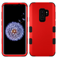 Military Grade Certified TUFF Hybrid Armor Case for Samsung Galaxy S9 Plus - Red 006