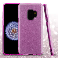 Full Glitter Hybrid Protective Case for Samsung Galaxy S9 - Purple