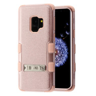 Military Grade Certified TUFF Hybrid Armor Case with Stand for Samsung Galaxy S9 - Rose Gold 404
