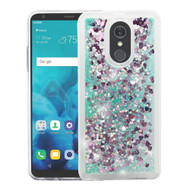 Quicksand Glitter Transparent Case for LG Stylo 4 - Teal Green