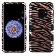 Military Grade Certified TUFF Image Hybrid Armor Case for Samsung Galaxy S9 - Zebra Rose Gold