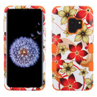 Military Grade Certified TUFF Image Hybrid Armor Case for Samsung Galaxy S9 - Hibiscus Flower Romance