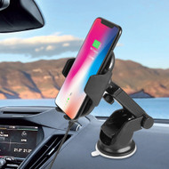 Infrared Auto Sensing Windshield Mount & Qi Wireless Fast Charger - Black