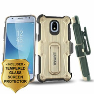 *SALE* HD Holster Case + Tempered Glass for Samsung Galaxy J3 (2018) / J3 Achieve / J3 Star - Rose Gold