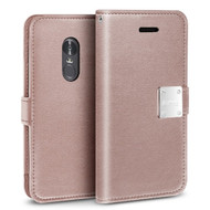 *SALE* Essential Leather Wallet Case for LG Stylo 4 - Rose Gold