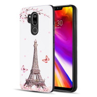 Art Pop Series 3D Embossed Printing Hybrid Case for LG G7 ThinQ - Eiffel Tower