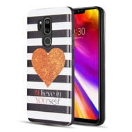 Art Pop Series 3D Embossed Printing Hybrid Case for LG G7 ThinQ - Heart