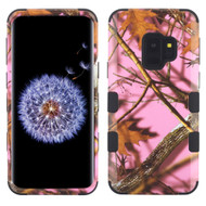 Military Grade Certified TUFF Image Hybrid Armor Case for Samsung Galaxy S9 - Pink Oak Hunting Camouflage