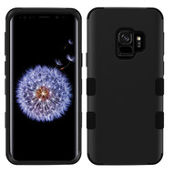 Military Grade Certified TUFF Hybrid Armor Case for Samsung Galaxy S9 - Black 001