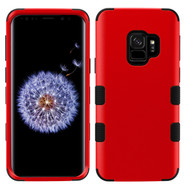 Military Grade Certified TUFF Hybrid Armor Case for Samsung Galaxy S9 - Red 006