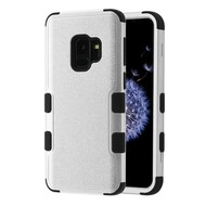 Military Grade Certified TUFF Hybrid Armor Case for Samsung Galaxy S9 - Silver