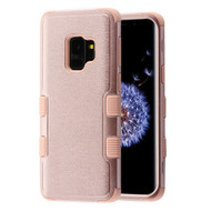 Military Grade Certified TUFF Hybrid Armor Case for Samsung Galaxy S9 - Rose Gold 404
