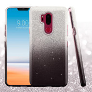 Full Glitter Hybrid Protective Case for LG G7 ThinQ - Gradient Black
