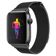 Magnetic Stainless Steel Mesh Strap Watch Band for Apple Watch 44mm / 42mm - Black