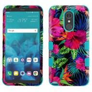 Military Grade Certified TUFF Hybrid Armor Case for LG Stylo 4 / Stylo 4 Plus - Electric Hibiscus