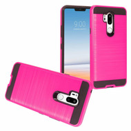 *Sale* Brushed Coated Hybrid Armor Case for LG G7 ThinQ - Hot Pink