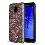 Art Pop Series 3D Embossed Printing Hybrid Case for Samsung Galaxy J7 (2018) - Leaves