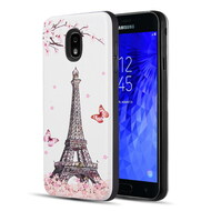 Art Pop Series 3D Embossed Printing Hybrid Case for Samsung Galaxy J3 (2018) - Eiffel Tower