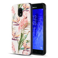 Art Pop Series 3D Embossed Printing Hybrid Case for Samsung Galaxy J3 (2018) - Flamingo