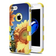 Military Grade Certified TUFF Image Hybrid Armor Case for iPhone 8 / 7 - Sunflower Field