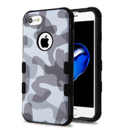 Military Grade Certified TUFF Image Hybrid Armor Case for iPhone 8 / 7 - Camouflage Grey