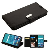 Essential Leather Wallet Stand Case for LG Stylo 4 / Stylo 4 Plus - Black