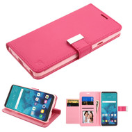 Essential Leather Wallet Stand Case for LG Stylo 4 / Stylo 4 Plus - Hot Pink