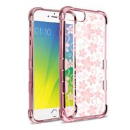 *Sale* TUFF Klarity Electroplating Transparent TPU Case for iPhone 8 Plus / 7 Plus / 6S Plus / 6 Plus - Hibiscus