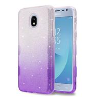 Tuff Full Glitter Hybrid Protective Case for Samsung Galaxy J3 (2018) / J3 Achieve / J3 Star - Gradient Purple