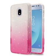 Tuff Full Glitter Hybrid Protective Case for Samsung Galaxy J3 (2018) / J3 Achieve / J3 Star - Gradient Pink