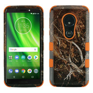 Military Grade Certified TUFF Image Hybrid Armor Case for Motorola Moto G6 Play / G6 Forge - Tree Camouflage