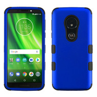 Military Grade Certified TUFF Hybrid Armor Case for Motorola Moto G6 Play / G6 Forge - Blue