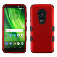 Military Grade Certified TUFF Hybrid Armor Case for Motorola Moto G6 Play / G6 Forge - Red