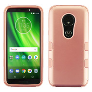 Military Grade Certified TUFF Hybrid Armor Case for Motorola Moto G6 Play / G6 Forge - Rose Gold 086