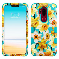 Military Grade Certified TUFF Image Hybrid Armor Case for LG G7 ThinQ - Spring Daffodils