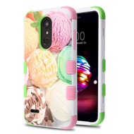 Military Grade Certified TUFF Image Hybrid Armor Case for LG K30 / Harmony 2 / Premier Pro - Ice Cream Scoops