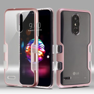 TUFF Panoview Transparent Hybrid Case for LG K30 / Harmony 2 / Phoenix Plus / Premier Pro - Rose Gold
