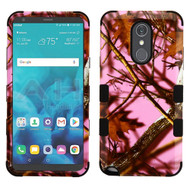 Military Grade Certified TUFF Image Hybrid Armor Case for LG Stylo 4 / Stylo 4 Plus - Pink Oak Hunting Camouflage