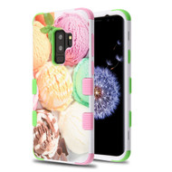 Military Grade Certified TUFF Image Hybrid Armor Case for Samsung Galaxy S9 Plus - Ice Cream Scoops
